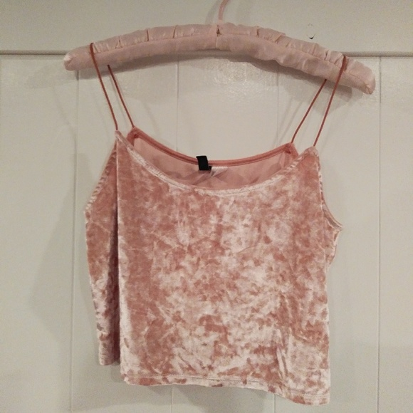9eb2b6dda23 Divided Tops | Hm Crushed Velvet Crop Tank Top | Poshmark
